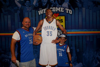Inside Chesapeake Energy Arena - Kevin Durant Cutout